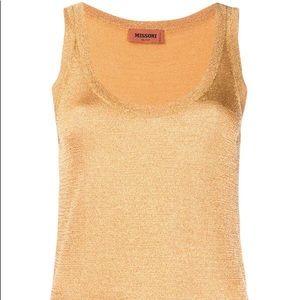 Missoni Gold knit tank sweater $775 retail